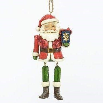 Santa Dangling Arm Ornament