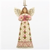 Hold Hope In Your Heart - Breast Cancer Angel Ornament