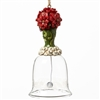 Pionsettia Glass Bell Ornament