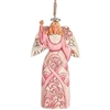Never Alone In The Fight - Breast Cancer Ornament