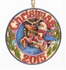 Santa Riding Reindeer - Dated 2015 Ornament