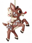 Rudolph And Bunny Ornament