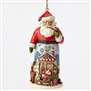 Santa With Sleigh - Ornament