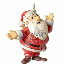 Frosty the Snowman Santa Claus Ornament