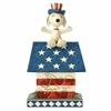 Home Of The Brave - Snoopy Patriotic Doghouse
