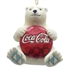 Polar Bear With Coke Christmas Ornament