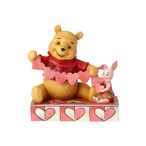 Handmade Valentines - Pooh and Piglet Heart