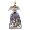 Angel With Nativity Christmas Ornament
