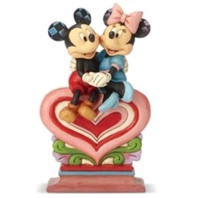 Heart to Heart - Mickey Minnie Sitting on Heart