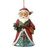 Winter Wonderland Santa Christmas Ornament