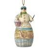 Coastal Snowman - Ornament
