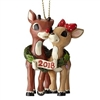 Rudolph And Clarice - 2018 Dated Christmas Ornament