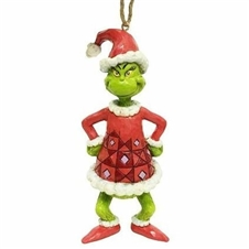 Grinch Dressed As Santa Christmas Ornament
