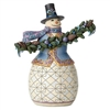 Snowman w/ Evergreen Garland