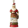 Santa with Satchel Christmas Ornament