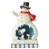 Snowy Splendor - Snowman with Snoopy Scene