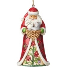 Santa with Kitten Ornament