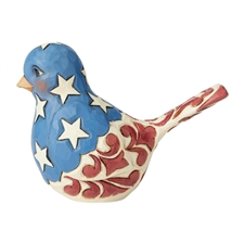 Feathered In Freedom - Red, White & Blue Bird