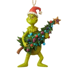 Grinch Holding Tree - Ornament