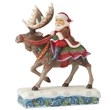 Merry Christ-moose - Santa Riding Moose