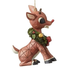 Rudolph With Wreath Ornament