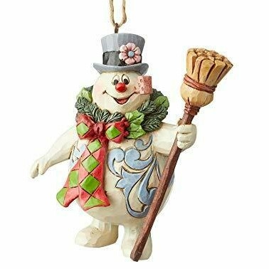 Frosty With Wreath Ornament