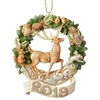 Woodland Dated 2019 Deer Wreath Ornament