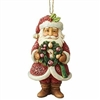 Wonderland Santa With Wreath Ornament