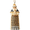 Black & Gold Santa With Tree Ornament