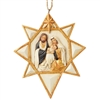 Black & Gold Nativity Star Ornament