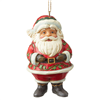Mini Jolly Santa Hanging Ornament