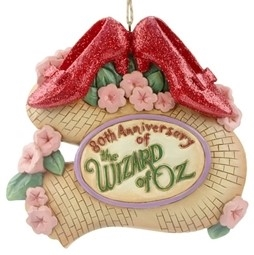 Wizard of Oz 80th Anniversary Ruby Slippers Ornament