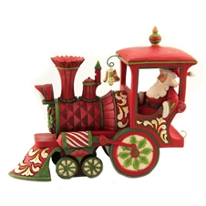 On Track For Good Tidings - Christmas Train Engine