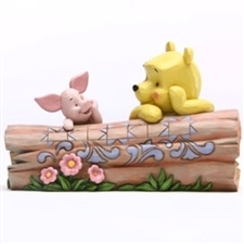 Truncated Conversation - Pooh and Piglet by Log