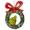 Grinch Peeking Thru Wreath Ornament