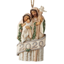 Woodland Holy Family Dated 2020 Ornament
