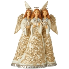 Blessings Be Threefold - Holiday Lustre Trio Of Angels