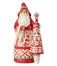 Warm And Cozy Wishes - Nordic Noel Santa with Tree