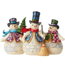 Christmas Crew - Three Snowmen Together
