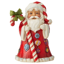 Santa With Candy Cane Mini Figure