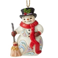Snowman with Long Scarf Ornament