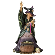 Casting Trouble - Scary Witch With Cauldron