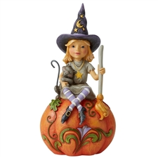 Frequent Flyer - Witch Sitting On Pumpkin