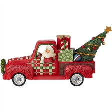 Country Roads Lead To Christmas - Santa in Red Truck