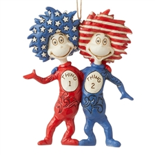 Thing 1 and Thing 2 Ornament