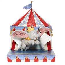 Over the Big Top - Dumbo Flying out of Tent Scene