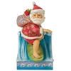 Jim Shore Heartwood Creek | Waves of Christmas Wishes - Santa Surfing 6008933 | DBC Collectibles