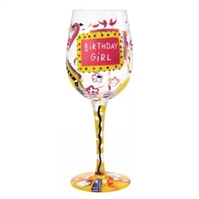 Wine Glass Birthday Girl