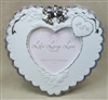25th Anniversary Heart Shaped Photo Frame
