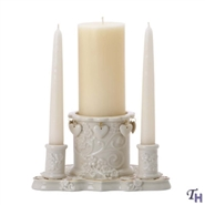 Floating Hearts Unity Candle Holder With Candles